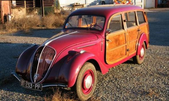 Bonhams-Paris-1948-Peugeot-202-Canadienne-woodie-front-3-4