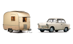 1958 Trabant P50 and Weferlinger Heimstolz camping trailer